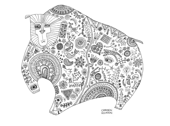 Doodle Drawings by Carmen Hickson