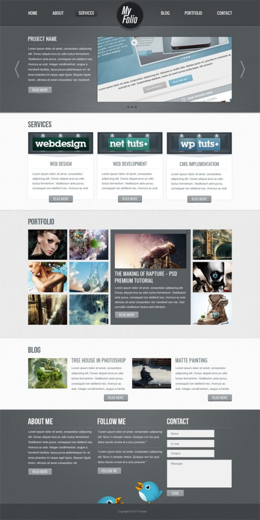 Create a Fabric Textured Web Layout Using Photoshop, by Constantin Potorac
