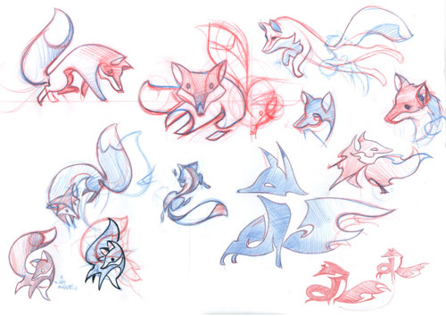 Firefox Logo Design Sketches, by Martijn Rijven