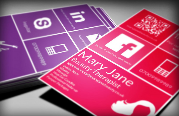 Free Flat Design Business Card Template & Photoshop Tutorial, by Lauren Clark