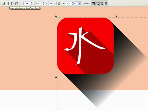 Trendy Flat Long Shadow Icon Tutorial in Inkscape, by Istvan Kalmar