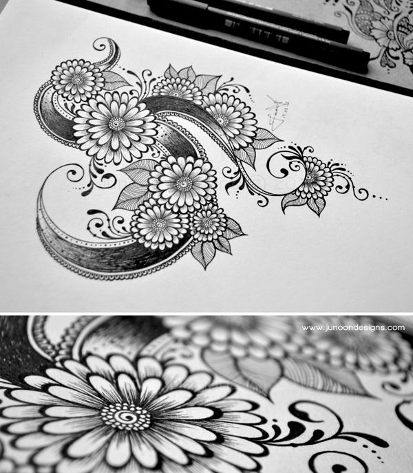 Floral Doodles, by Faheema Patel