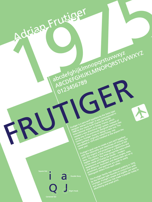 Frutiger Typography Poster by lludu
