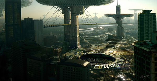 Making of The Futuristic City, by Sourav Dhar
