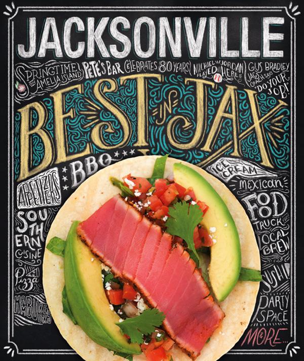 Jacksonville magazine handlettering by Shauna Lynn Panczyszyn