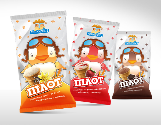 Hercules Ice-Cream, Identity Redesign by Olga Samsonenko