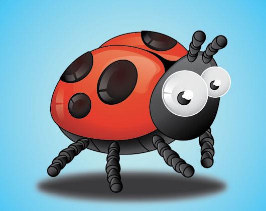 Create A Ladybird, tutorial by Ilie Ciorba