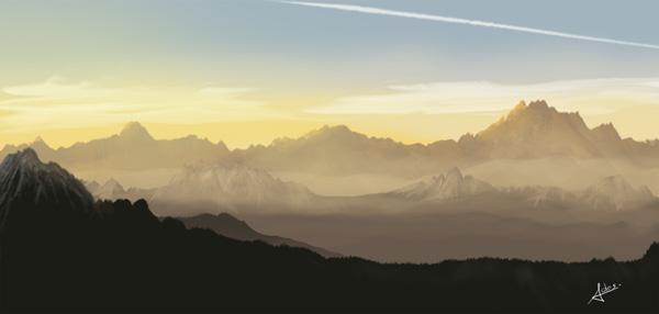 Painting a Landscape, by Alain Descamps