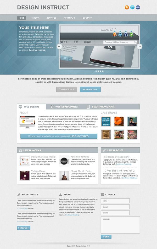 Create a Light Textured Web Design in Photoshop, by Ionut Ciursa