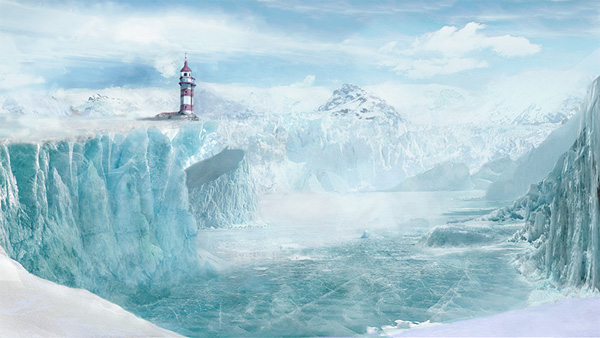 "Matte Painting Tutorial ""The Lighthouse in the Glacier"" by Antonio Neto"