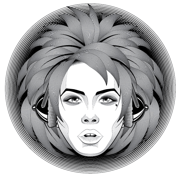 How to Create a Line Art Based Symmetrical Portrait in Adobe Illustrator, by Sharon Milne