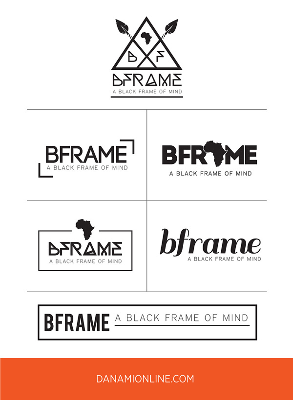 Logo Design Process: BFrame, by Danami