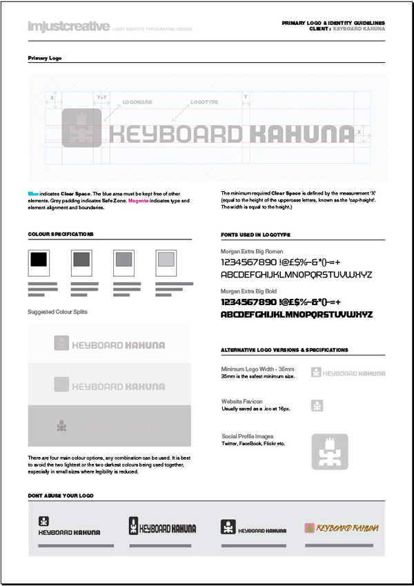 Logo Identity Guideline Template for Download, by Graham Smith