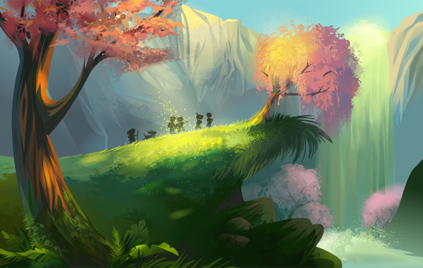 Create a Magical Vector Landscape Using Illustrator, by Tutorials Hive