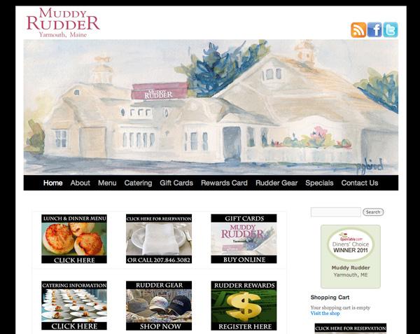 Muddy Rudder Restaurant Logo and Web Site Design, by Visible Logic