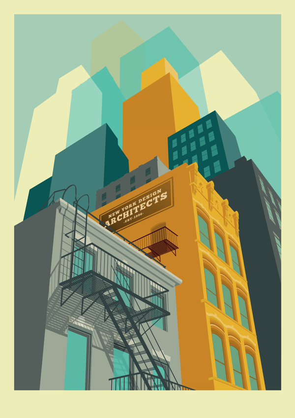 New York Illustrations, by Remko Heemskerk