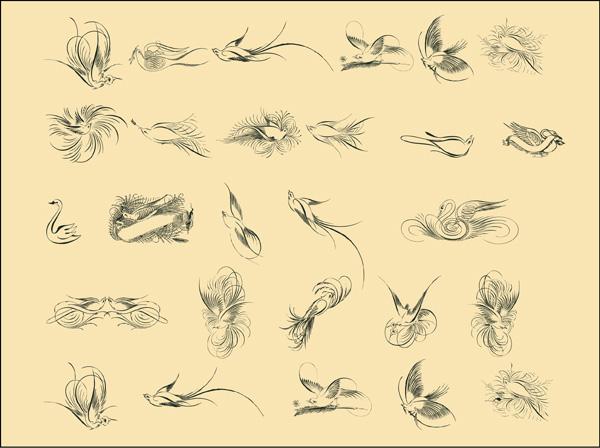 penmanship-birds-free