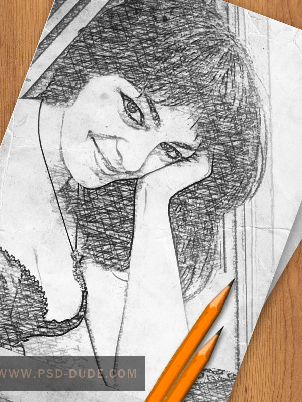 Create a Pencil Photo Sketch in Photoshop, by psddude