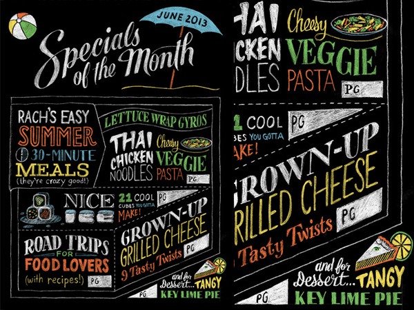 Rachael Ray Magazine handlettering by Sean McCabe