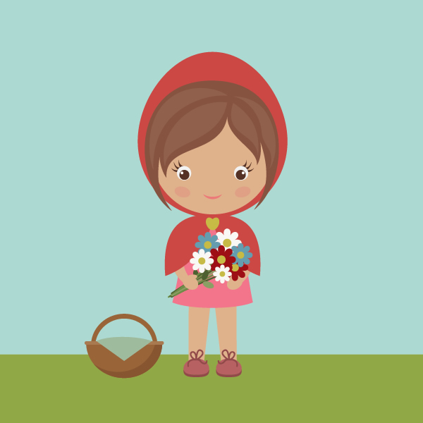 How to Draw Little Red Riding Hood with Basic Shapes in Adobe Illustrator, by Nataliya Dolotko
