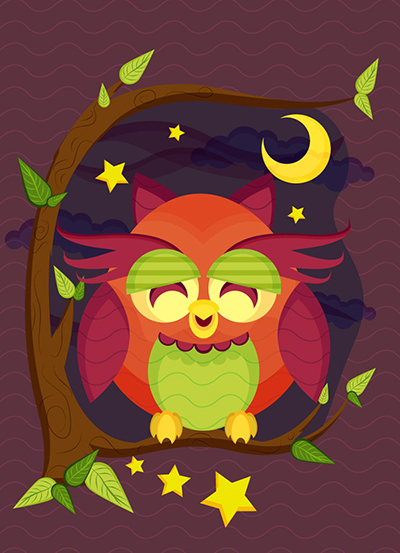 Create a Resting Owl Scene With Brushes and Pattern in Adobe Illustrator by Jude Christoper Roxas