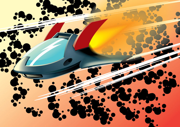 How to Create a Rocketing, Vector Aircraft Shuttle, tutorial by Ferry Ickhwano