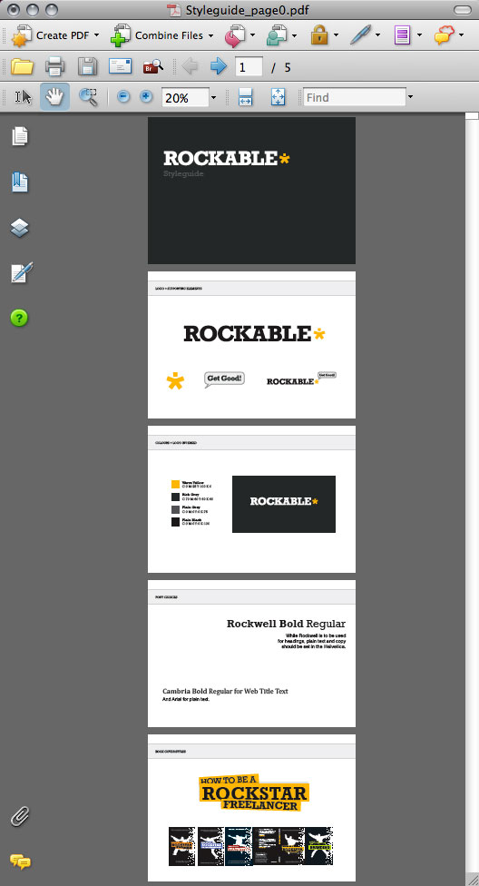 Creating a Rockstar Brand, Logo & Styleguide in Illustrator, by Collis Ta'eed