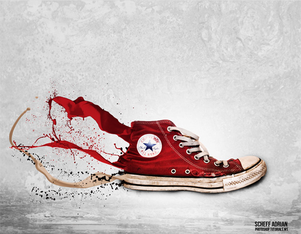 How to Create an Awesome Splashing Sneaker in Photoshop by Adrian Scheff