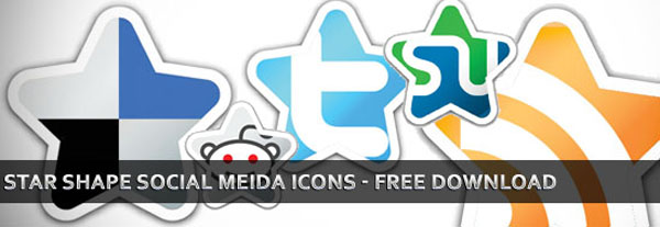 start-shape-social-media-icons-set