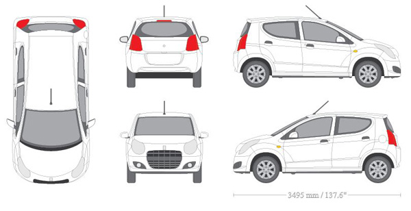 2D and 3D Vehicle Models and Outlines