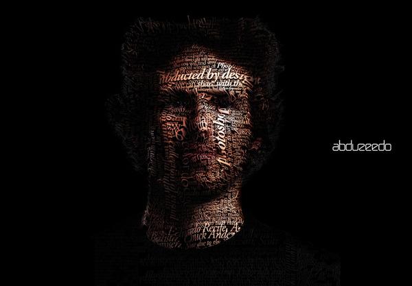 Super Easy Typographic Portrait in Photoshop, by Abduzeedo