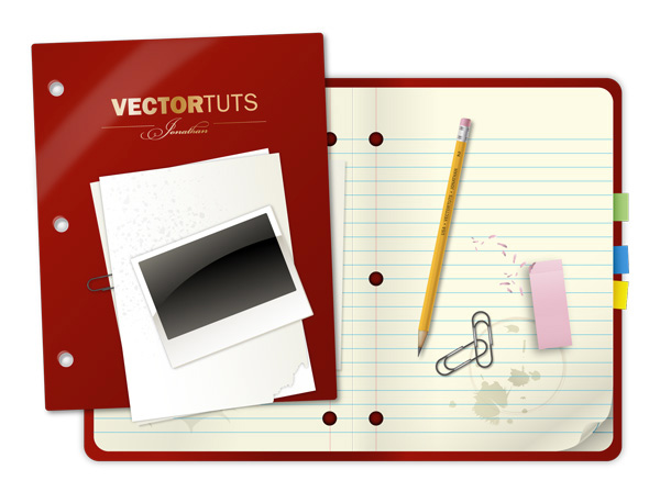 Craft a Vector Collegiate Notebook Design, tutorial by Jonathan