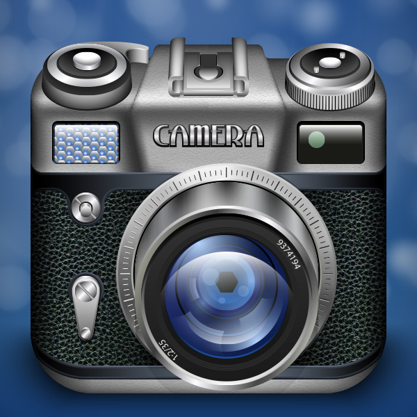 How to Create a Vintage Photo Camera icon for App Store in Adobe Illustrator by Sergii Korolko