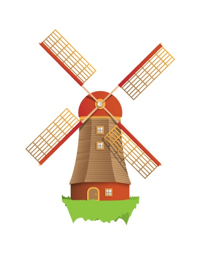 How To Create A Beautiful Windmill Illustration Using Illustrator by Timothy Blake