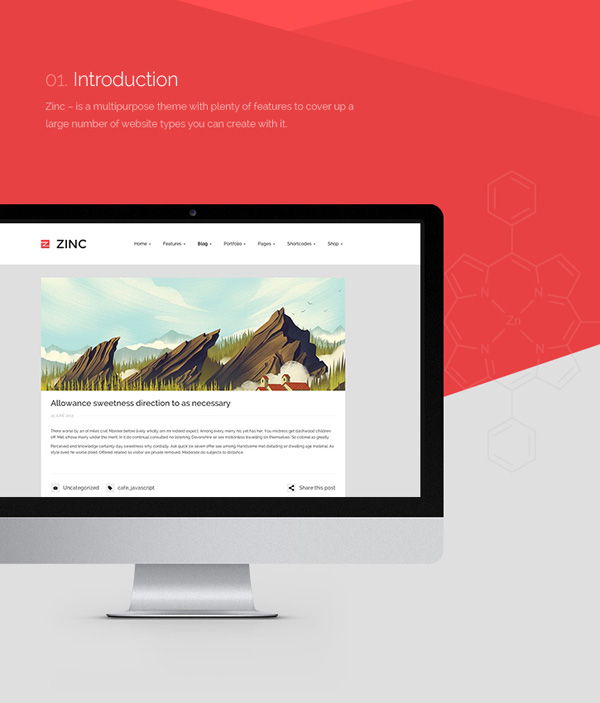 Zinc-Wordpress Theme, by Art Ramadani